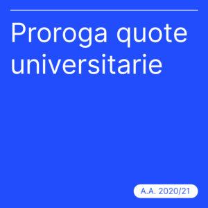 Proroga scadenza quota universitaria