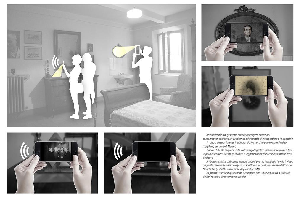 Augmented Reality. Camera da letto
